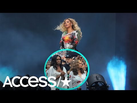 Michelle Obama & Tina Knowles Dance Together At Beyoncé & Jay-Z's Show In Paris! | Access