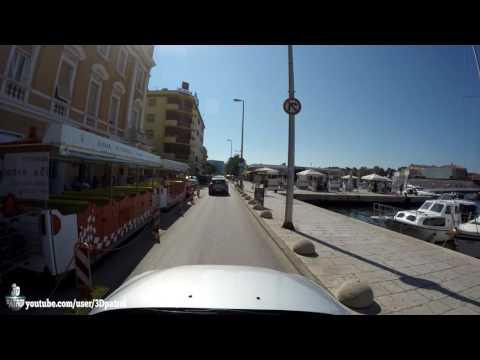 (4k) Coastal drive in Zadar, Croatia