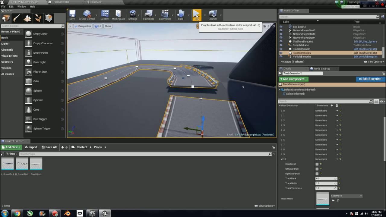 Unreal engine 4 track spline youtube malvernweather Images
