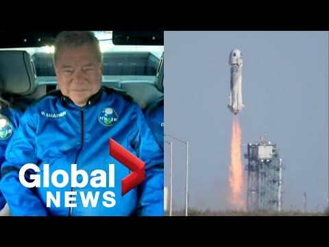 William Shatner blasts off into space aboard Jeff Bezos' Blue Origin | FULL