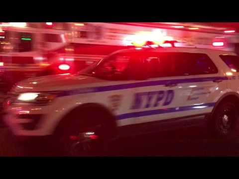 2 NYPD POLICE INTERCEPTOR UTILITIES RESPONDING URGENTLY ON JEROME AVENUE IN NORWOOD, THE BRONX.