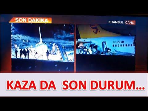 Sabiha Gökçen Airport also crash, Pegasus airlines plane was divided into three parts, plane crash