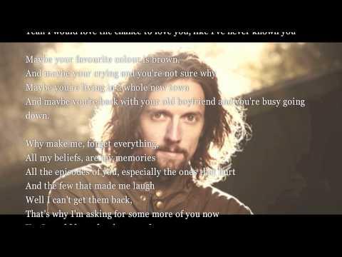 Jason Mraz - I Never Knew You [with scrolling lyrics]