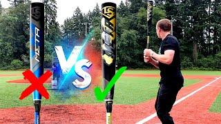 2021 META vs. the ILLEGAL 2020 META - Louisville Slugger BBCOR Baseball Bat Reviews