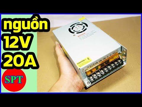 Giới thiệu nguồn 12V 20A, bộ nguồn 12V SPT Shop