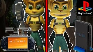 PS2/PSP graphic comparison Ratchet and Clank: Size Matters