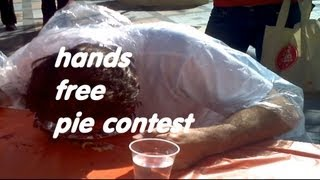 My First Hands Free Pie Eating Contest (Las Vegas November 2011) Look No Hands Episode 3