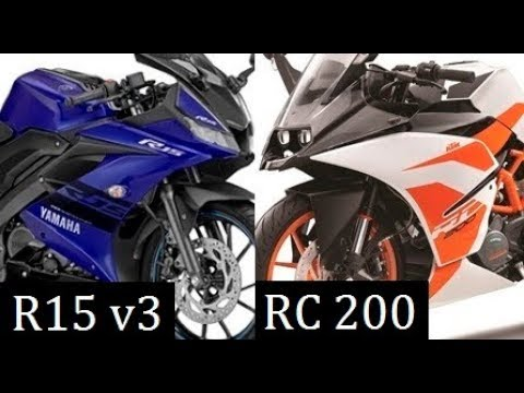 Yamaha R15 ver 3 vs KTM RC 200 Comparison Review