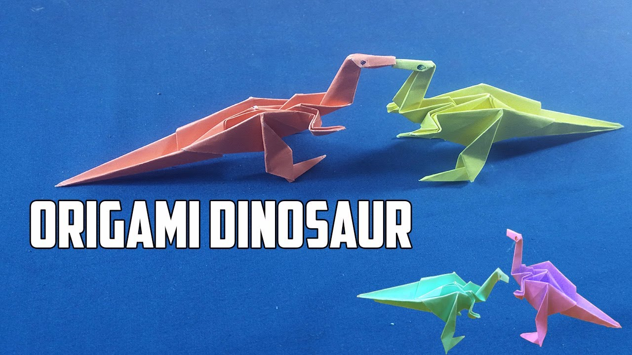 How to make an easy origami dinosaur step by step instruction how to make an easy origami dinosaur step by step instruction triceratops origami dinosaur paper jeuxipadfo Choice Image