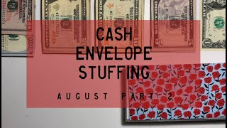 Cash Envelope Stuffing | August Checks #2 (combined incomes) | BudgetWithBri