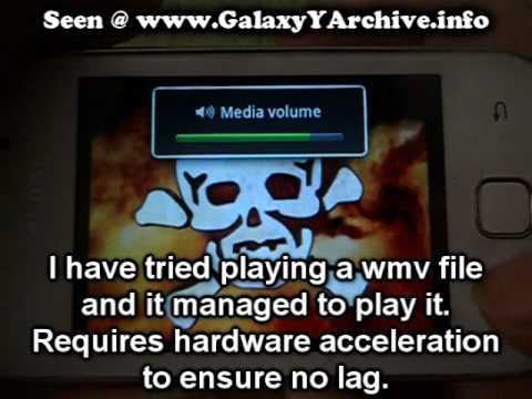 VLC Player on Samsung Galaxy Y