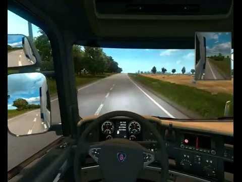 Euro Truck Simulator 2 -Scandinavia Map  -Scania R Topline