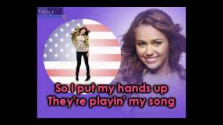 New Miley Song 2009 - Party in the USA (w/ Lyrics)
