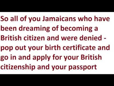 If U Were Born in Jamaica Before August 1962 You are a British Citizen