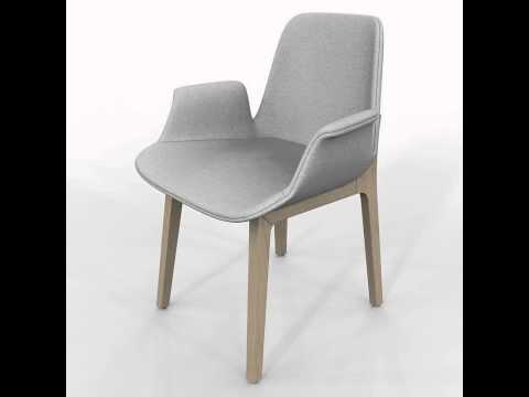 Chair Poliform Ventura 3D model from CGTrader.com