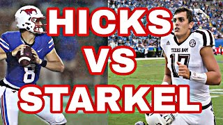 ARKANSAS QB BATTLE HICKS VS STARKEL | ARKANSAS RAZORBACKS FOOTBALL