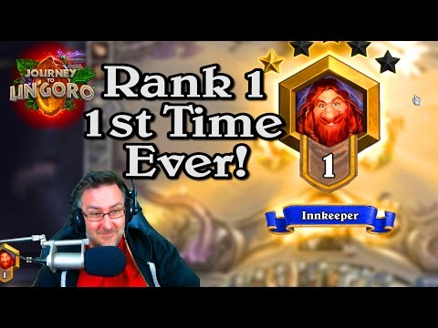 🍀🎲 Rank 1 Hobbs 1st Time Ever! ~ Journey to Un'Goro ~ Hearthstone Heroes of Warcraft