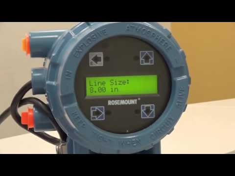 Rosemount 8732EM LOI Operation - How to Enter Table Values – Line Size