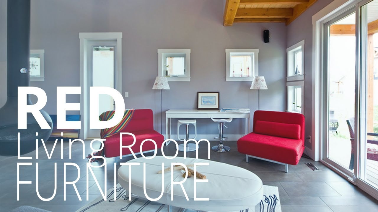 Red living room furniture homedesignlover youtube - Homedesignlover com ...