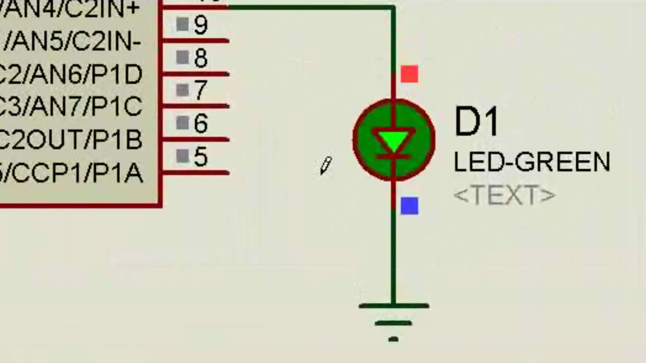 Related Links More Circuit About Flashing Blinking Mplabx Tutorial Pic16f684 Led Blink And Proteus Simulation Youtube