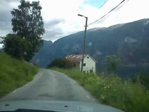 Driving near Sognefjorden