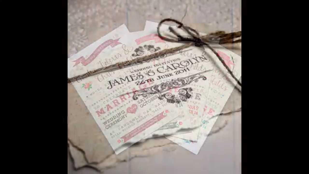 Modelos de invitaciones para boda economicas youtube - Ideas super originales para bodas ...