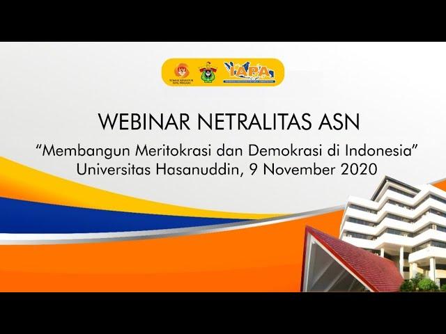 Webinar Netralitas ASN dengan tema