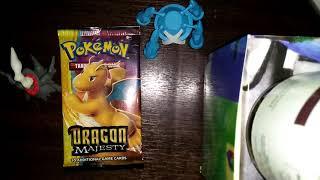 Opening a Pokemon dragon majesty pack