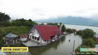 Danau Sentani menenggelamkan Rumah di sepanjang Danau Sentani