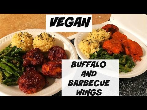 valentines-day-dinner-|-barbecue-cauliflower-|-buffalo-cauliflower