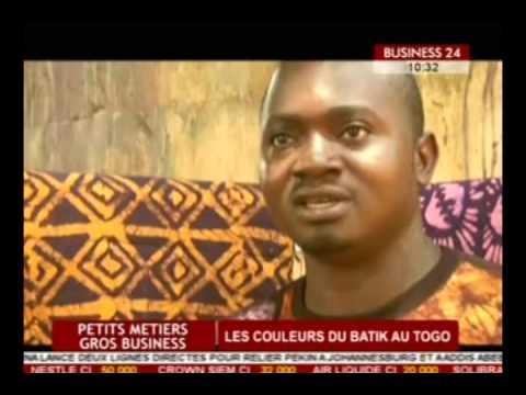 Business 24/Petits métiers   Les couleurs du Batik au Togo