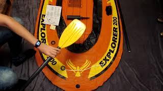 Распаковка САМОЙ ДЕШЕВОЙ лодки | Обзор лодки Intex explorer 200 |