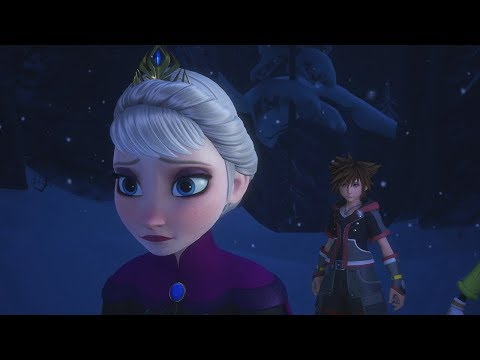 Kingdom Hearts 3 - Sora Meeting Queen Elsa (Frozen)