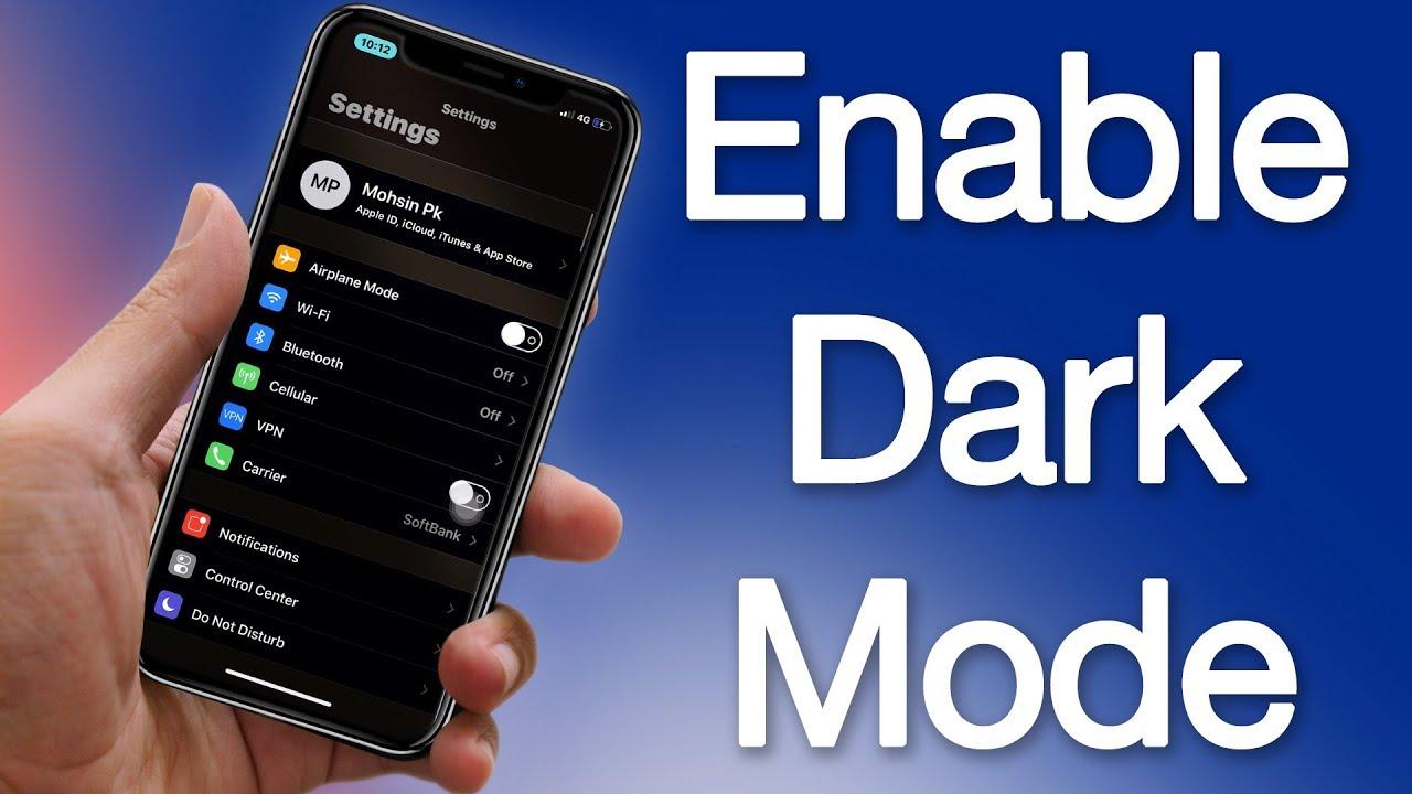 buy popular 363b9 81f5c Turn ON Dark Mode on iPhone X 8 7 6S 6 5S SE 5 Running iOS 12, 11 or 10