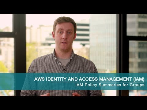 Introducing AWS Identity and Access Management (IAM) Policy Summaries