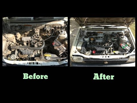 How to clean dirty engine bay || Cleaning car engine bay