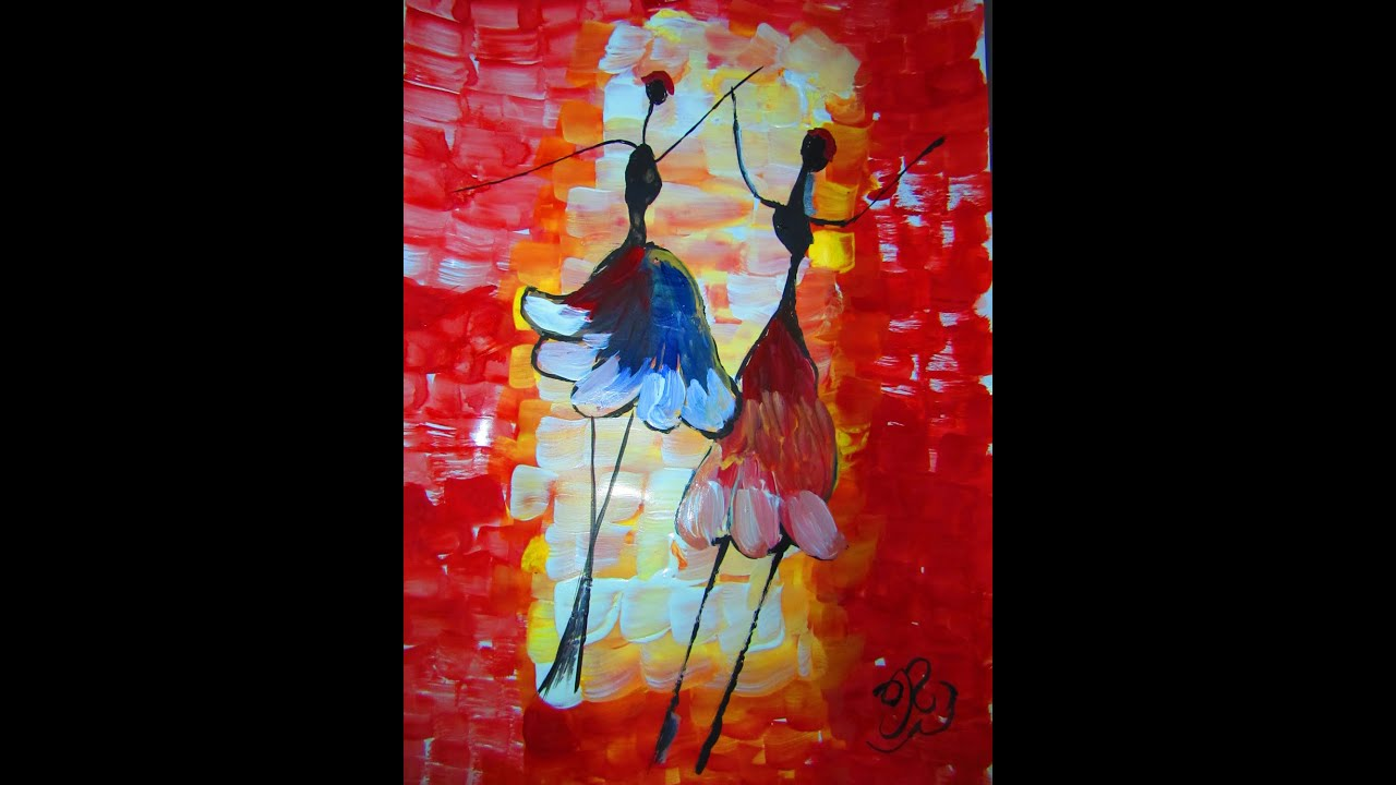 Abstract Painting Of Girl Dancing How To Make Dance Character Abstract Painting Technique