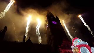 Manchester 2018 New Year Fireworks (at Manchester Town Hall, Albert Square)