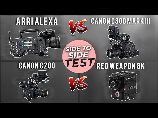 Canon C300 mark III vs Canon C200 vs Arri Alexa vs Red Weapon (download link in the description)