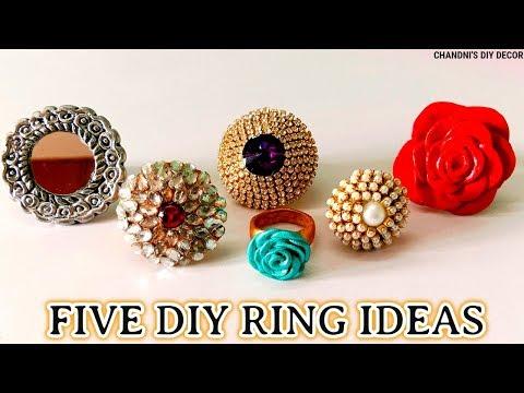 प्लास्टिक बोतल से अंगूठी बनाने के 5 आसान तरीके।।  5 Easy DIY Ring Ideas With Plastic Bottle ||