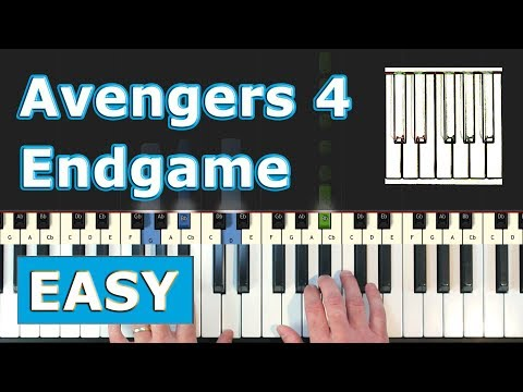 Avengers 4 - Endgame - Piano Tutorial Easy (Trailer Music) - Sheet Music thumbnail