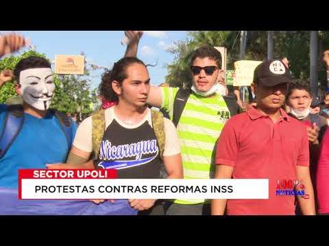Así empezo la protesta contra reformas INSS en Managua
