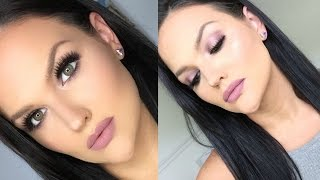 bh cosmetics carli bybel palette makeup tutorial   mauve halo smokey eye