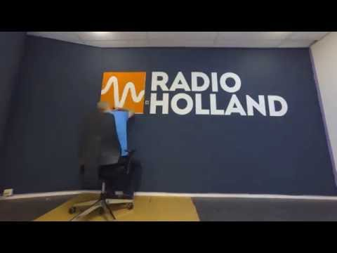 Wall Painting Radio Holland Logo   Delfzijl Office