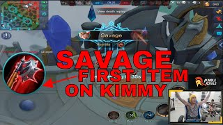 BLOODLUST AXE FIRST ITEM SAVAGE KIMMY - MOBILE LEGENDS- 1000 DIAMONDS GIVEAWAY- GAMEPLAY