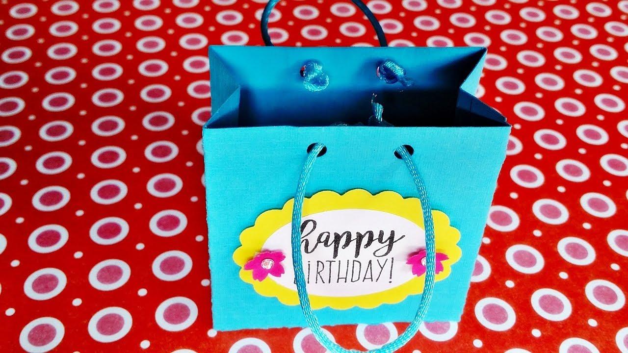 basteln tolle geburtstags geschenkt te selber machen treat bag diy youtube. Black Bedroom Furniture Sets. Home Design Ideas