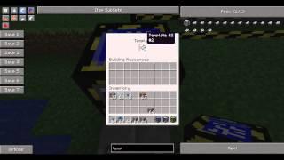 Tekkit Tutorials Part 23 - Builder, Filler, Template Drawing table