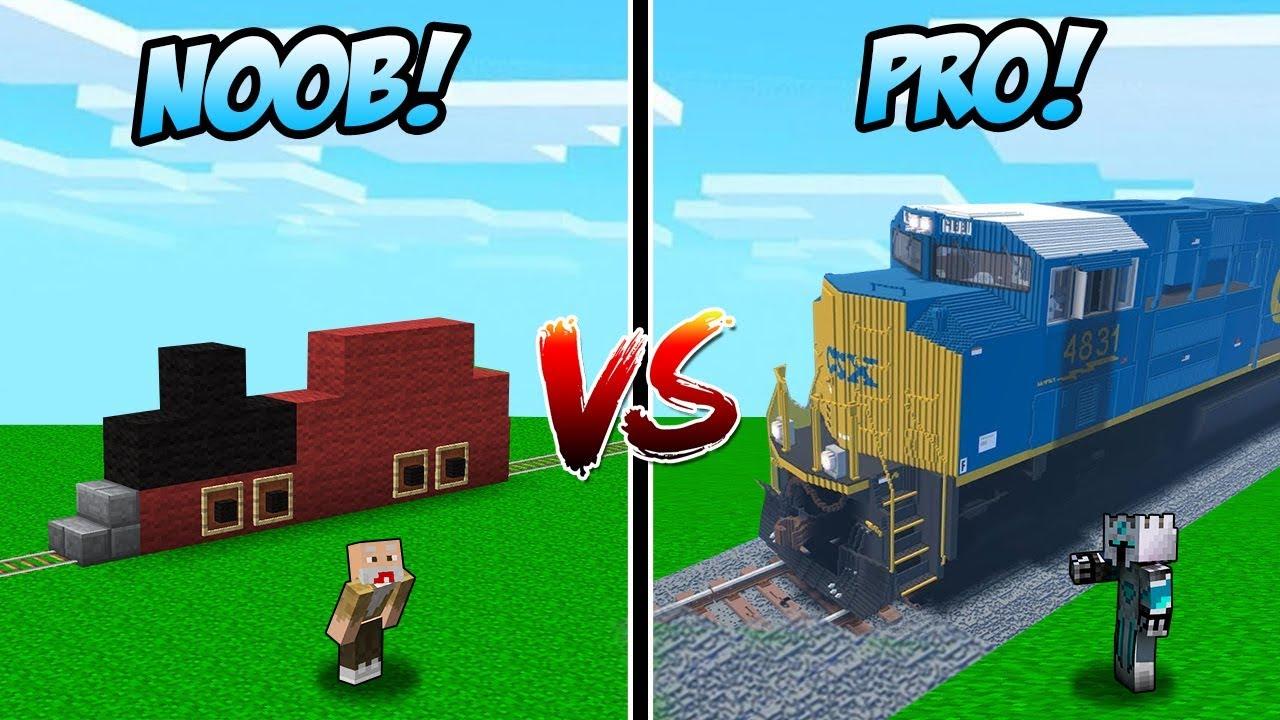 Gambar Kereta Api Minecraft Kereta Api Canggih Noob Vs Kereta Api Canggih Pro Di Minecraft Youtube