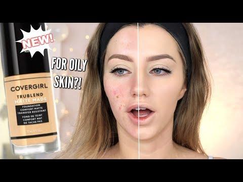 NEW COVERGIRL MATTE MADE FOUNDATION REVIEW | Oily Skin | Jazzi Filipek
