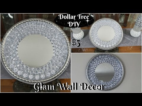 DOLLAR TREE DIY  GLAM AND INEXPENSIVE WALL DECOR  DIY HOME DECOR IDEAS 2019